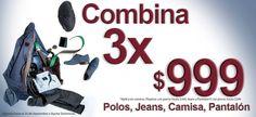 Aprovecha la oferta de 3 X $999. Aplica para camisas, jeans y pantalones. ¡Viste #Fashion!  Dale clic YA: www.mensfashion.com.mx