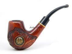 "Wooden Tobacco Smoking pipe""UK Royal Coat of Arms"""