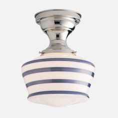 vintage inspired with a stripe.  schoolhouse electric.