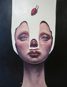 Afarin Sajedi is a creative Iranian artist. I wanted to share her paintings with you and show you an amazing kind of art. Editor's note: Afarin Sajedi is an Iranian artist with a unique style of painting. Art And Illustration, Gustav Klimt, Painting Competition, Pop Surrealism, Modern Surrealism, Visionary Art, Surreal Art, Surreal Portraits, Woman Painting