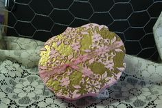 Gift Box, Pink Pirouette with aged gold emboss