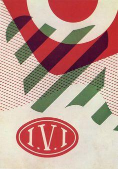 Remo Muratore tenured at Studio Boggeri. Poster cover for Industria Vernici Italiane / 148 x 210 mm Desiner: Antonio Boggeri