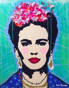 Frida Kahlo Mariposas Print by Paola Gonzalez
