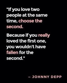 love quote – if you love two people at the same time - love images