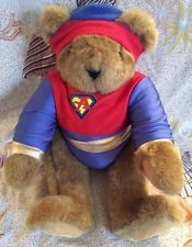 VERMONT TEDDY BEAR SuPeR HeRo W/ OuTfit & HaT! Plush JoiNTeD