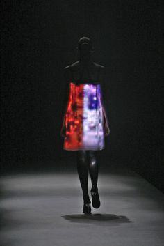 Hussein Chalayan with LED lights... the man is a total genius!