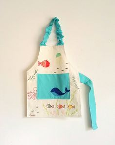 Your place to buy and sell all things handmade Toddler Apron, Kids Apron, Montessori Toddler, Montessori Toys, Art Smock, Fabric Pen, Lighted Canvas, Imaginative Play, Kid Names
