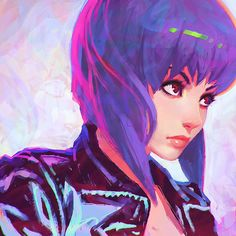 Did you hear Scarlett Johansson will play Motoko Kusanagi in Dreamworks' adaptation of Ghost in the Shell?   #Art by KR0NPR1NZ on DeviantArt