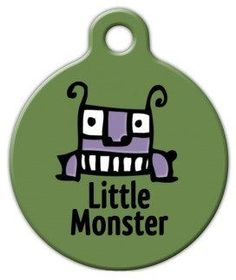 Little Monster  Custom Pet ID Tag for Dogs and Cats  Dog Tag Art  SMALL SIZE -- You can get additional details at the image link.