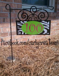 12 Swirly Address Sign by shopcurlycreations on Etsy, $35.00