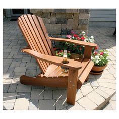 Adirondack Chair with a BEER HOLDER!