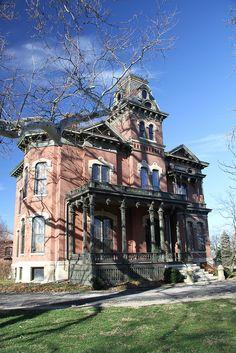 Decatur IL, Millikin House, Decatur Illinois, Macon County IL=