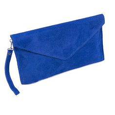 Electric blue suede clutch bag #wedding