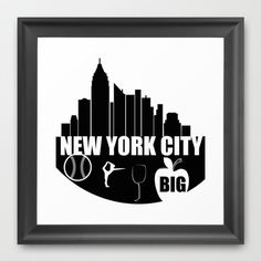 NEW YORK CITY  Framed Art Print by Robleedesigns - $30.00