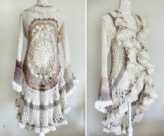 Crochet Mandala Duster Jacket More
