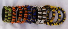 Multi-colour bead bangles by Fab Bold Accessories - Minimum order two- Two for 40 USD