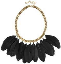Black feather statement necklace from H&M
