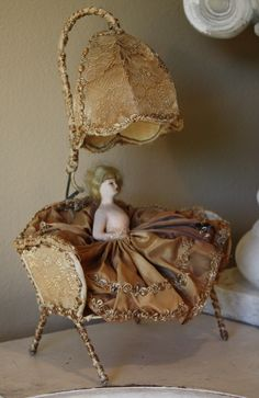 French Half Doll Lamp