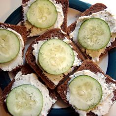 Cucumber and Cream Cheese Appetizers. Very easy and they are a big party hit.