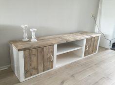 Tv meubel landelijk stijl Luxesteigermeubel.nl Furniture, House, Diy Tv Stand, Diy Tv, Diy Apartments, Home Decor, Home Deco, Recycled Furniture, Furniture Design