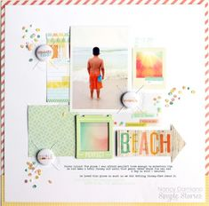 Beach layout by Nancy Damiano for Simple Stories