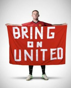 Wayne Rooney calls for Manchester United supporters to cheers the Reds to victory against Real Madrid in the UEFA Champions League second round second leg on Tuesday night. Manchester United Wallpaper, Manchester United Football, Best Football Team, Football Fans, Forever Manchester, Wayne Rooney, Soccer Quotes, Man United, Uefa Champions League