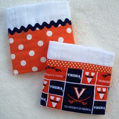 UVA Diaper Burp Cloth Set.....15.  (8. each)