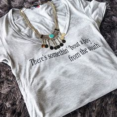 Perfect shirt for the Kenny Chesney concert this weekend at the AMP! // #shoplocal  #shopmaca #shoplocal #boutique #macaboutique #unique #trendy #prestigious