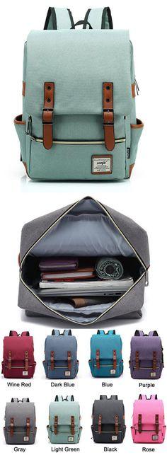 Vintage Canvas Travel Backpack Leisure Backpack&Schoolbag for big sale #canvas #vintage #travel #Leisure #backpack #Bag #school