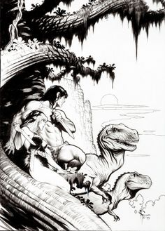 Original cover art by Mark Schultz from Tarzan the Untamed, published by Dark Horse Comics, November 1999.