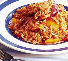 Italian rice with chicken, from the Good Food magazine website. Great one-potter! Roast Chicken Veg, Fried Chicken Recipes, Mushroom Chicken, Chicken Rice, Healthy Chicken, Seafood Recipes, Bbc Good Food Recipes, Cooking Recipes, Healthy Recipes