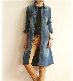 Womens Long Denim Jacket / Long Vintage Denim on Orvis.com!   My ...