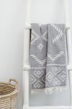A Pestemal (or Peshtemal) is a traditional towel that originated in Turkey about 600 years ago and they are still made there today using hand-looms. It is made from cotton and flat-woven, maki…
