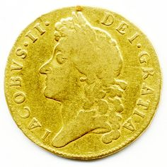 1688, James II, Gold Guinea, @offshorebroker