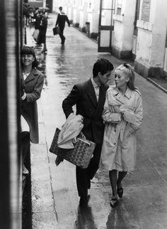 "Catherine Deneuve, Nino Castelnuovo in ""Les parapluies de Cherbourg"" (1964). Director: Jacques Demy."