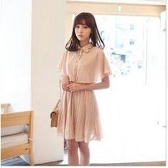 Sleeveless Chiffon Pleated Dress