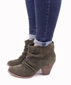 Anthropologie Shoes SPLENDID RODEO BOOTIES Olive Suede Ankle Boots 9.5 #Splendid #Booties #Casual