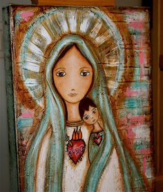 SALE 30% off w/ coupon: Givelove30  Heart of Mary by FlorLarios