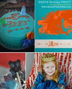 *** trisha for livi**** Disney's BRAVE themed birthday party via Kara's Party Ideas   KarasPartyIdeas.com