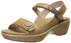 957deba5e4e Amazon.com  Naot Women s Reserve Wedge Sandal  Clothing Metallic Shoes