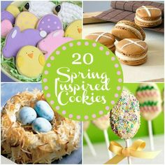 Easter/Spring Cookie Recipes! I'm using the peanut butter cracker covered in white chocolate (Easter Pops) for the school #Easter party. SO EASY!
