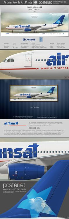 Story of flight. Airbus A330-200 Air Transat C-GITS | www.aviaposter.com | #aviation #jetliner #airplane #pilot #aviationlovers #avgeek #jet #airport #pilotlife #cabincrew