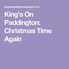 King's On Paddington: Christmas Time Again