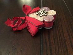 Upcycled Wine Cork Snowflake Ornaments set of 3