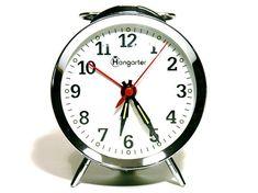 French Mechanical Alarm Clock  Hangarter  Metal Alarm Clock