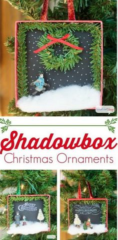 DIY Shadowbox Christmas Ornaments.