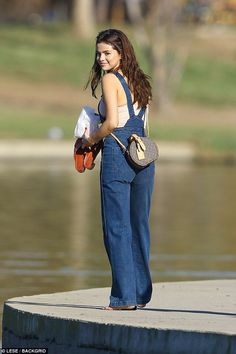 Cutie!Selena Gomez looked to be enjoying a rare day off as she sported adorable denim ove...