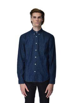 "Acne Studios - Fall Winter 2015 - Menwear // Classic jeans ""Isherwood"" shirt in cotton"