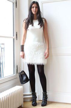 White Dress (A louer sur Cestmarobe.com) Bucket Bag Delphine Delafon  Shoes Pierre Hardy
