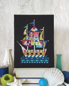 Voyage Pirate Ship Satsuma Street cross stitch pattern PDF